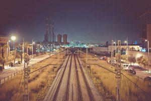 Close to the railroads.
